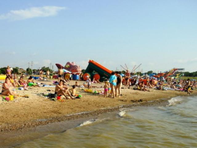 Пляж в Ейске - «Каменка»